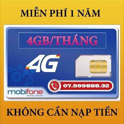 Sim 4G Mobifone miễn phí 1 năm không nạp tiền0