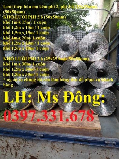 Lưới thép hàn 3ly ô 50x50 hàng đen, hàng mạ giá sỉ3