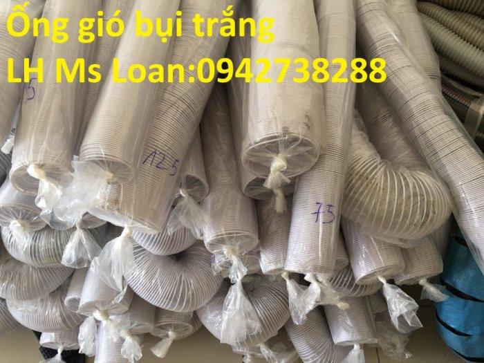 Báo giá ống gió bụi trắng-ống hút bụi nhựa PVC lõi thép phi 125 giá ưu đãi4