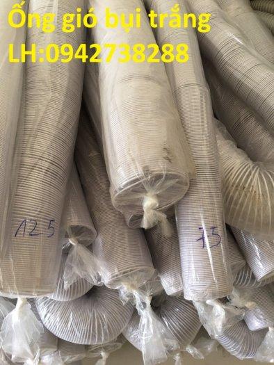 Báo giá ống gió bụi trắng-ống hút bụi nhựa PVC lõi thép phi 125 giá ưu đãi3