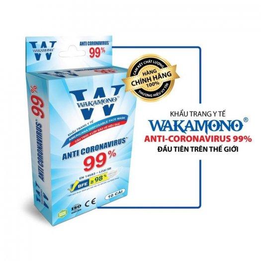 Bán Sỉ Thùng Khẩu Trang WAKAMONO ngăn & diệt virut COVID, Kháng Khuẩn Cực Tốt1