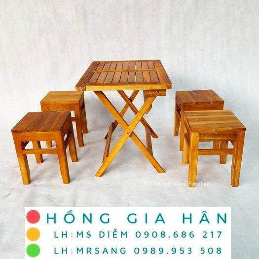 Bàn ghế cafe cóc cực xịn xò Hồng Gia Hân C1120