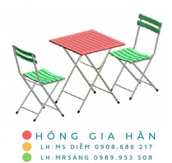 Bàn ghế xếp gọn Hồng Gia Hân C1160