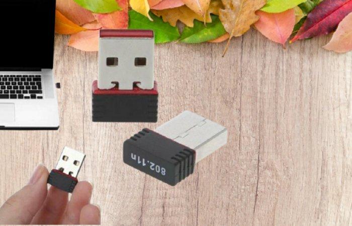 USB 2.0 Wireless Mini 802.11N giá 80K xài cho PC, Laptop đều OK0