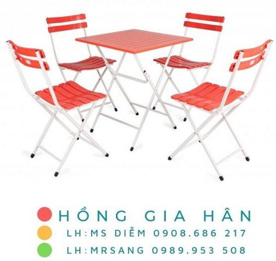 Bàn ghế cafe, trà sữa Hồng Gia Hân C1230
