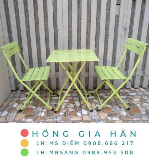 Bàn ghế cafe, trà sữa giá rẻ Hồng Gia Hân C1240