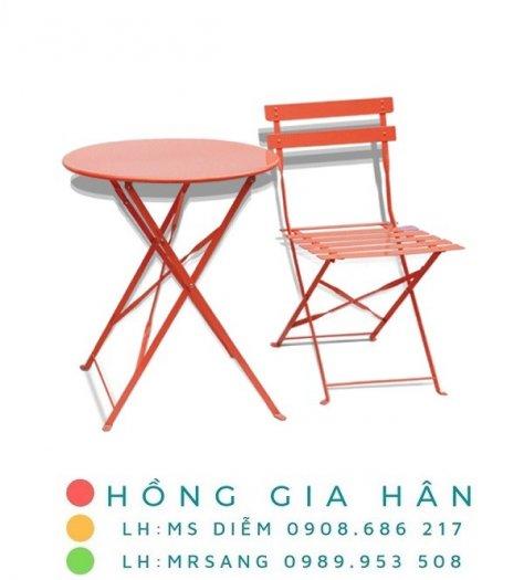 Bàn ghế cafe, trà sữa hiện đại Hồng Gia Hân C1250