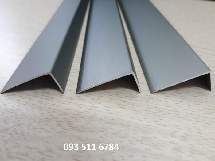 Nẹp L V kết thúc sàn gỗ Nẹp nhôm kết thúc sàn nhựa 4mm Nẹp V Inox cao cấp1
