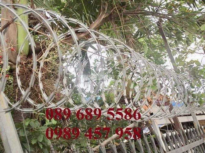 Dây gai tôn, dây kẽm lam, dây thép gai hình dao bảo vệ biệt thự giá rẻ nhất Hà Nội mới 100%2
