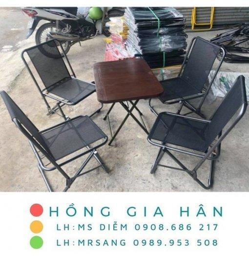 Bàn ghế cafe giá rẻ Hồng Gia Hân C1260
