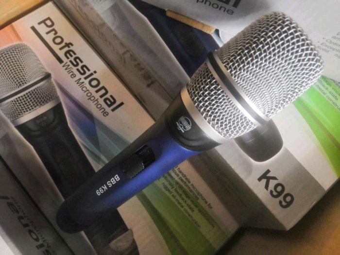 Micro Có Dây BBS K99 Hàng Nội Địa Karaoke Chuyên Nghiệp0