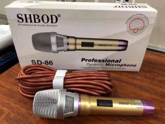 Micro Có Dây Shbod SD 86 Karaoke Chuyên Nghiệp0