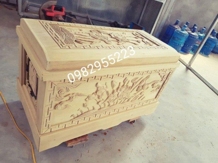 Tiểu quách gỗ vàng tâm18