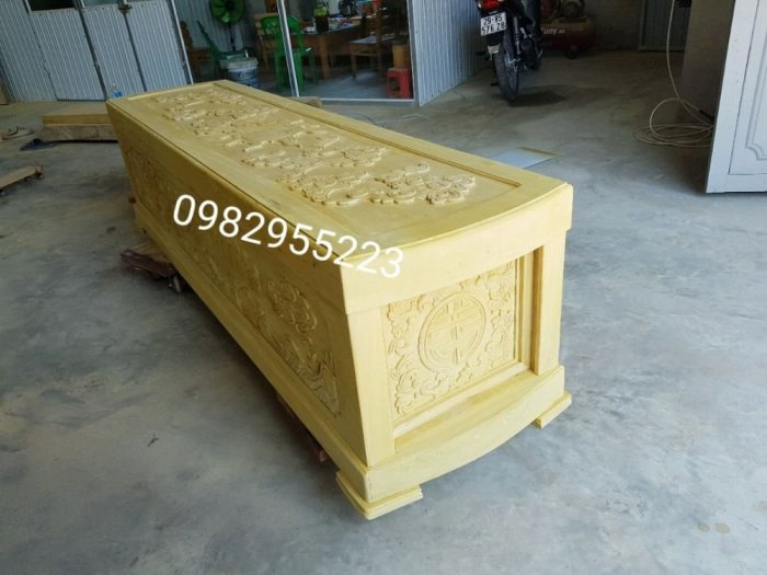 Tiểu quách gỗ vàng tâm17