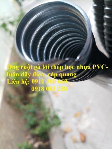 Bán ống ruột gà lõi thép bọc nhựa PVC- bảo vệ dây điện, cáp quang0
