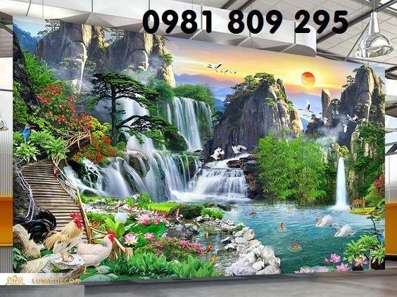 Tranh phong cảnh - gạch tranah 3d ốp tường3