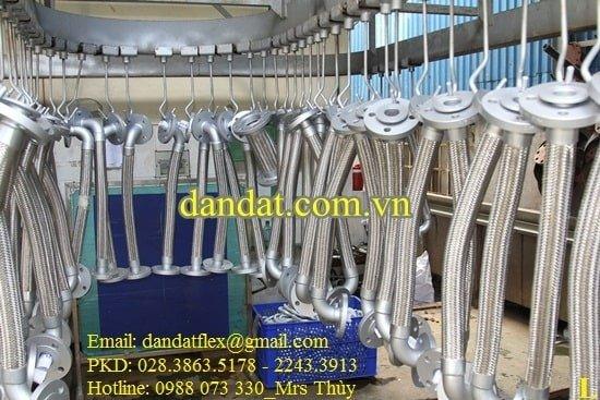 Khớp nối mềm inox thủy lực bọc lưới inox chính hãng14