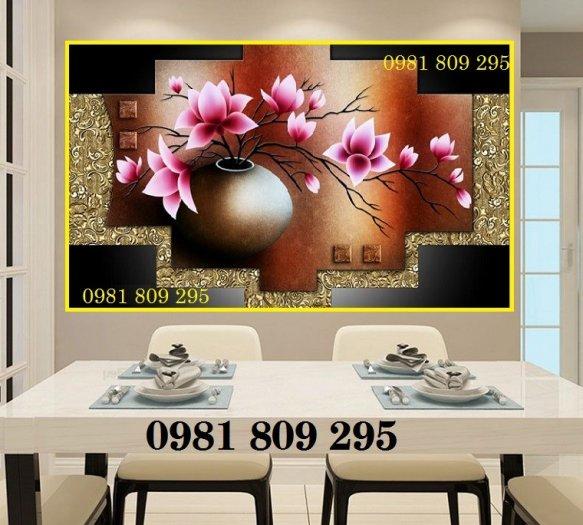 Tranh bình hoa - gạch tranh 3d trang trí phòng1