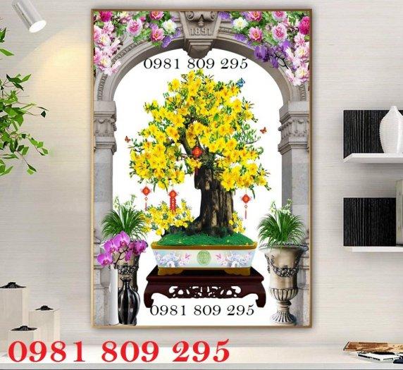 Tranh hoa mai - gạch tranh 3d - tranh gạch4