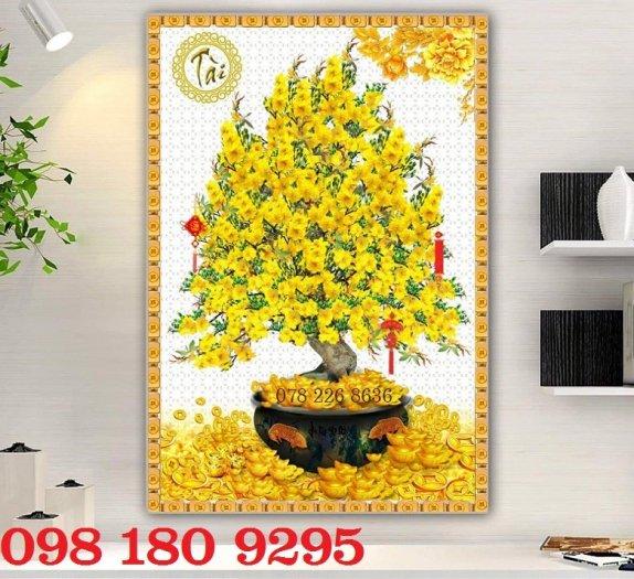 Tranh hoa mai - gạch tranh 3d - tranh gạch0