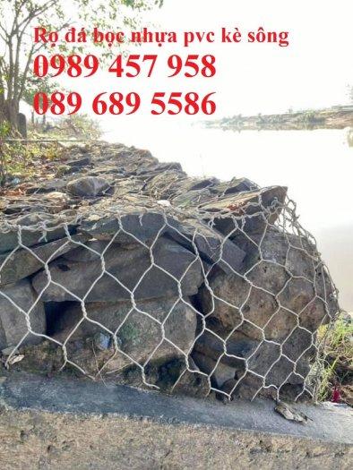 Nhà máy làm rọ đá mạ kẽm 1x1x2m, Rọ đá bọc chống sạt lở 2x1x0,5m1