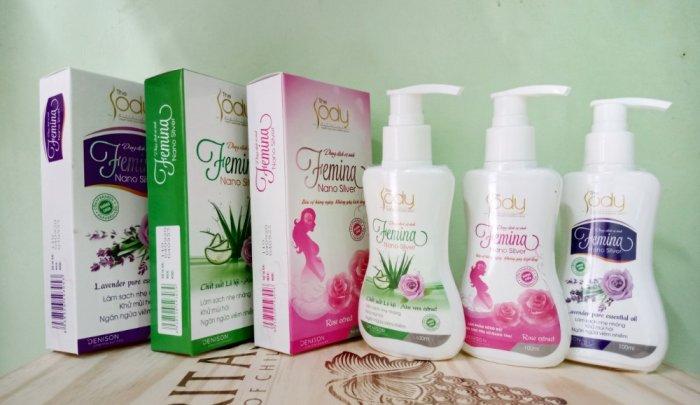 Dung dịch vệ sinh FEMINA với 3 mùi dịu mát3