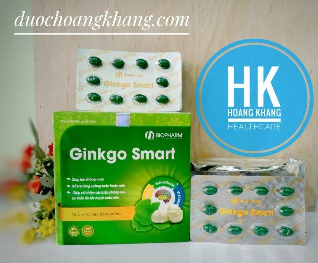 Ginkgo Smart Hỗ trợ tăng cường tuần hoàn não, giúp máu lưu thông.1