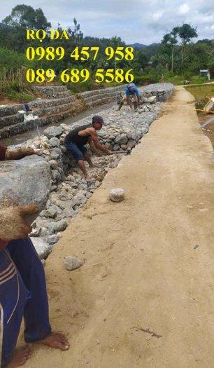Nơi sản xuất rọ đá bọc nhựa, Rọ đá chống sụt lở, Rọ thép 2x1x0,53