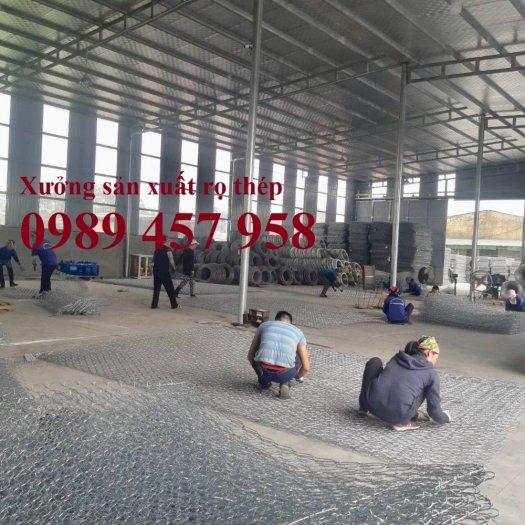 Nơi sản xuất rọ đá bọc nhựa, Rọ đá chống sụt lở, Rọ thép 2x1x0,52