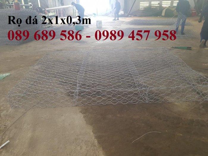 Nơi sản xuất rọ đá bọc nhựa, Rọ đá chống sụt lở, Rọ thép 2x1x0,51
