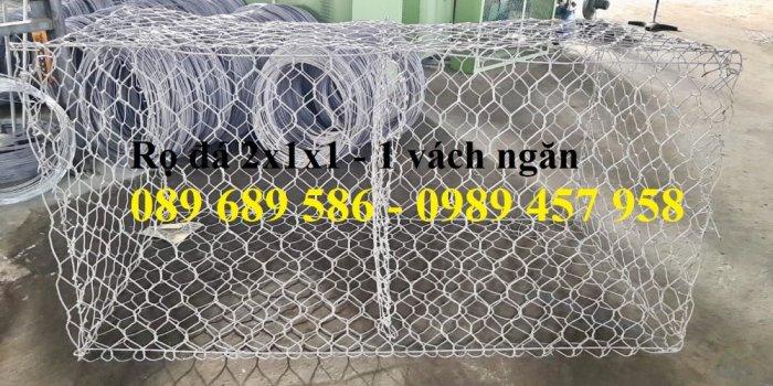 Nơi sản xuất rọ đá bọc nhựa, Rọ đá chống sụt lở, Rọ thép 2x1x0,50