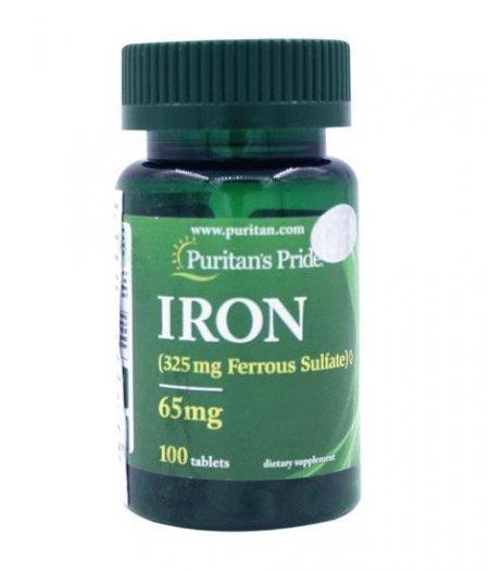 IRON FERROUS SULFATE 100 TABLETS bổ sung sắt, hỗ trợ liệu pháp điều trị thiếu máu do thiếu sắt.1
