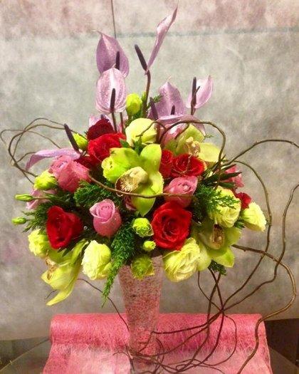 Bình hoa tươi sang trọng, cao cấp chúc mừng sinh nhật - LDNK920