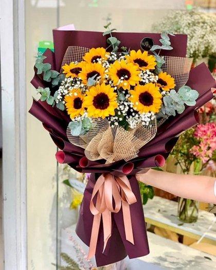 Bó hoa hướng dương mix hoa baby tặng tốt nghiệp - LDNK1000