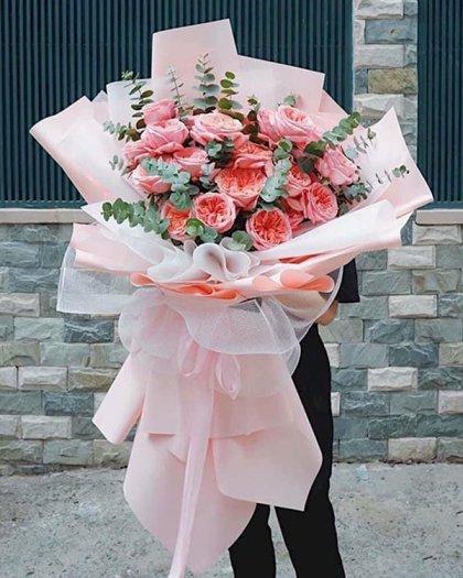 Bó hoa hồng khổng lồ màu pastel - LDNK1010