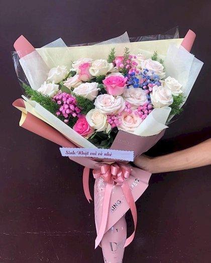 Bó hoa hồng chúc mừng sinh nhât bạn thân - LDNK1070