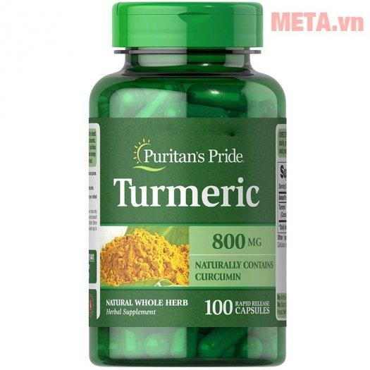 Viên nghệ Puritan's Pride Turmeric 800 mg ( Hộp 100 Viên)2