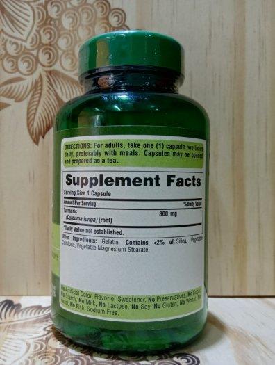 Viên nghệ Puritan's Pride Turmeric 800 mg ( Hộp 100 Viên)1