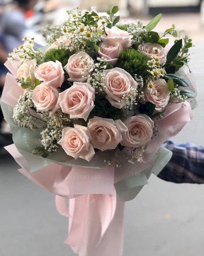 Bó hoa hồng pastel xinh xắn tặng sinh nhật nữ - LDNK1320