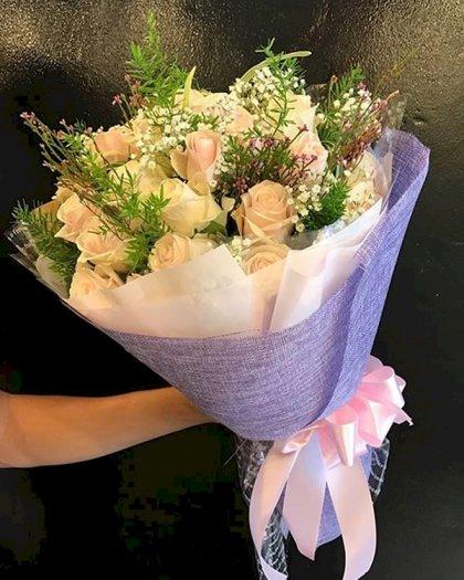 Bó hoa hồng kem tặng sinh nhật mẹ - LDNK1360