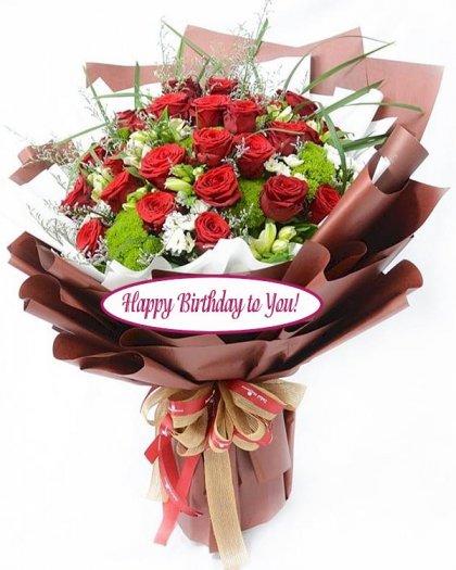 Bó hoa hồng Happy Birthday - LDNK1380