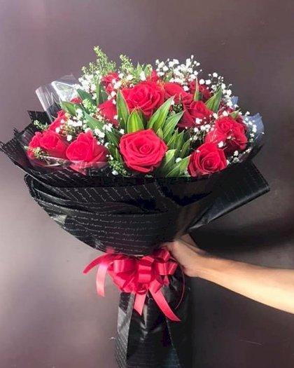 Bó hoa hồng đỏ chúc mừng ngày lễ tình nhân - LDNK1430
