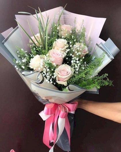 Bó hoa hồng kem vintage nhẹ nhàng tặng chúc mừng - LDNK1440