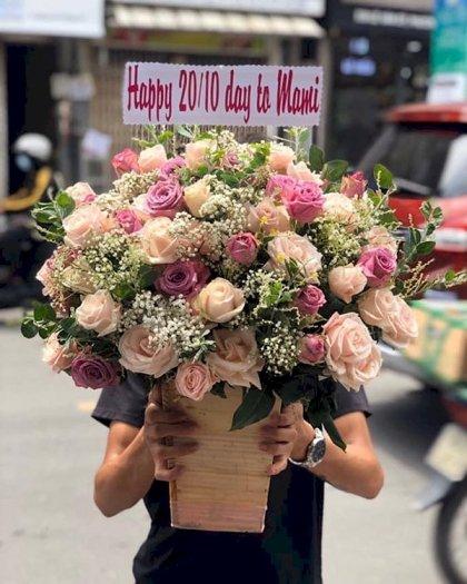 Chậu hoa tặng mẹ mừng ngày 20/11 - LDNK1490