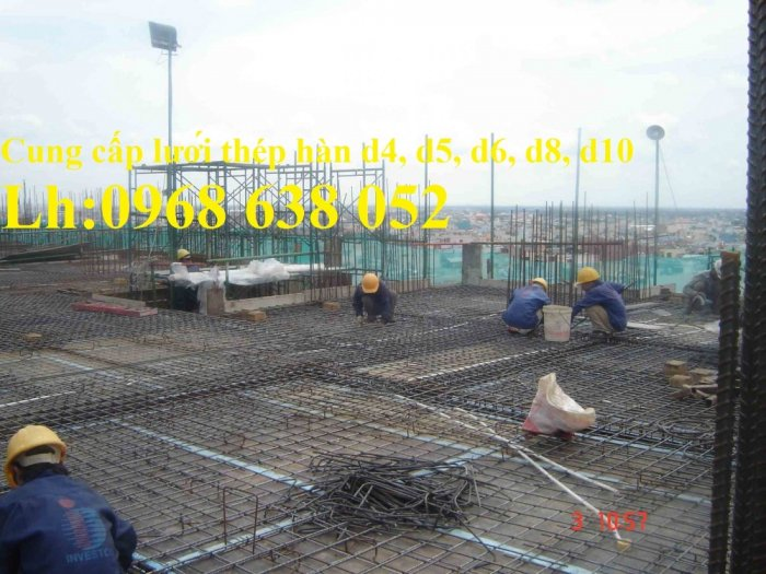 Sản xuất lưới thép hàn dây 4 mắt 100x100 đổ sàn bê tông, đổ cầu, cống rãnh cường lực cao3