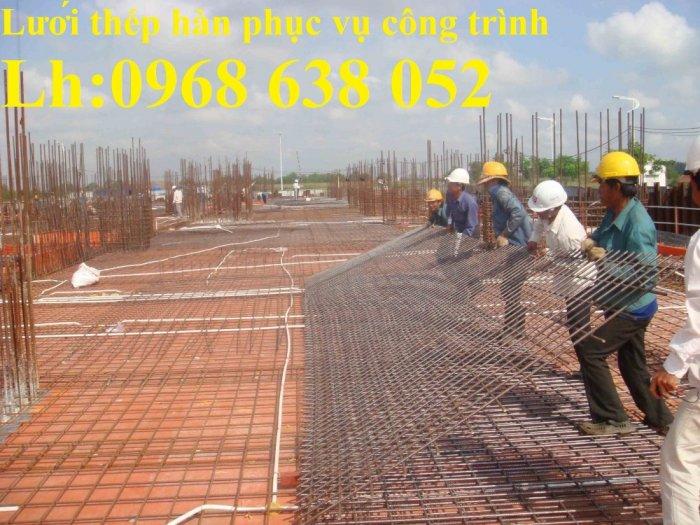 Sản xuất lưới thép hàn dây 4 mắt 100x100 đổ sàn bê tông, đổ cầu, cống rãnh cường lực cao2