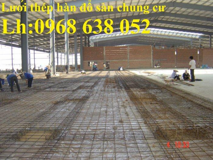 Sản xuất lưới thép hàn dây 4 mắt 100x100 đổ sàn bê tông, đổ cầu, cống rãnh cường lực cao0