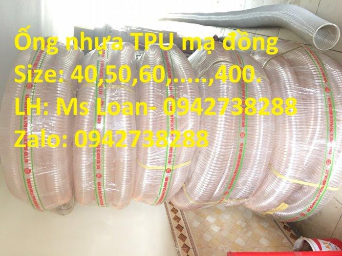 Bán ống nhựa PU lõi thép mạ đồng phi 200 hàng có sẵn, giao hàng toàn quốc3
