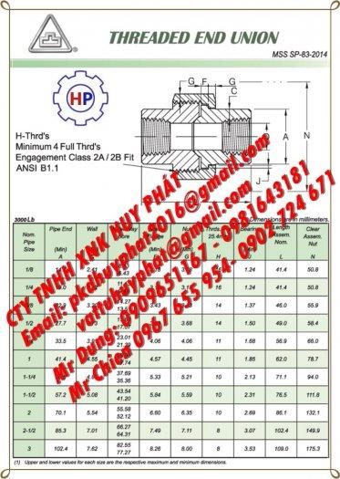 Rắc co ren áp lực DN25 ( phi 34) A105 #30004