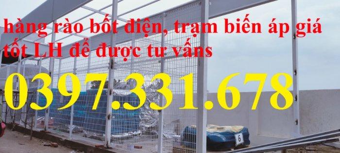 Nơi sản xuất hàng rào ngăn bốt điện, ngăn trạm biến áp phi 4, phi 5, phi 6 giá tốt1